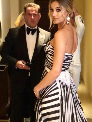 With fiance Jasmine Yarbrough at this year's Logies.