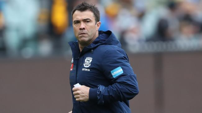 Cats coach Chris Scott has signed a contract extension. Picture: AAP