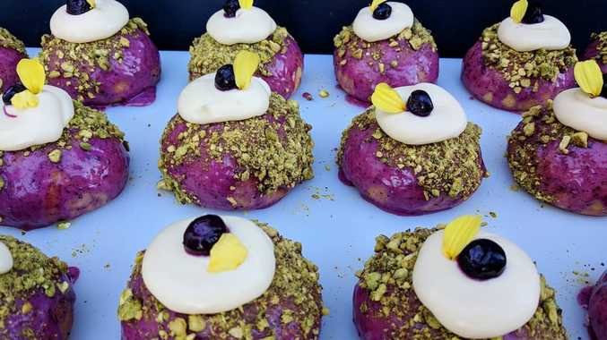 The Baker's Duck's blueberry, pistachio and lemon curd doughnuts were a hit with Toowoomba.