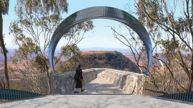Designs for the proposed Tobruk Memorial Drive Lookout.