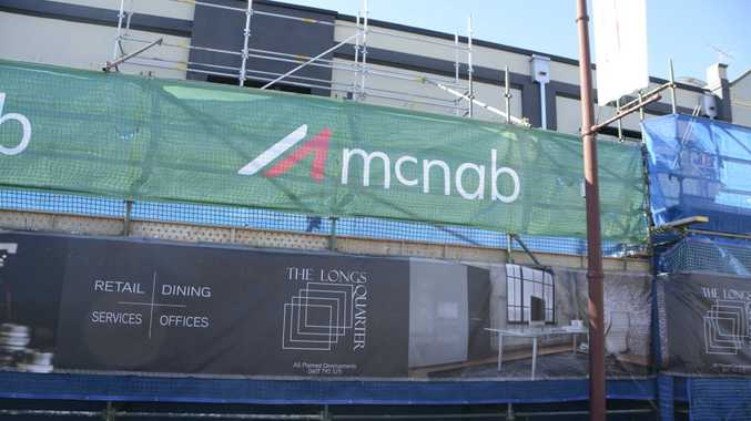 Scaffolding up on historic Toowoomba CBD building
