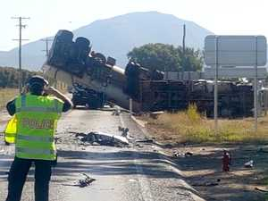 Three dead in fuel tanker, car crash north of Bowen