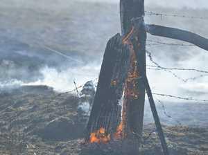 Crews return to keep watch on fire zone