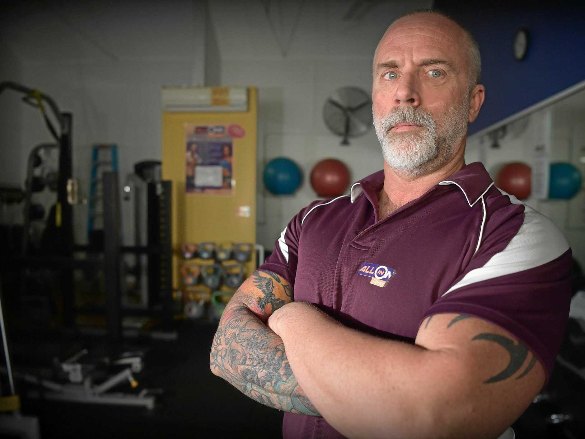 Beerwah gym owner Taz Calandruccio is not happy with a price hike in council charges.