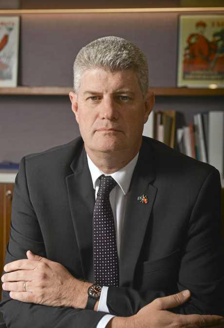 Stirling Hinchliffe MP at 1 William Street, Brisbane.