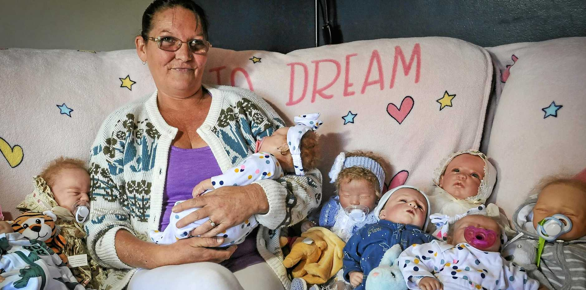 Mother-of-seven Kim Johnstone no longer has crippling anxiety after collecting re-born dolls 12 months ago.