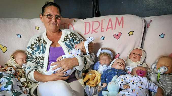 Dolls help heal Gladstone mum's postnatal depression