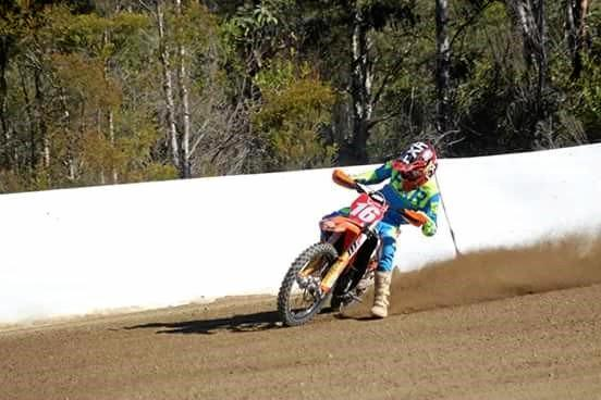 CHAMP: Gympie's Cyshan Weale, 15  wins a trifecta at the Australian Junior Dirt Track Championships on Saturday, August 12.