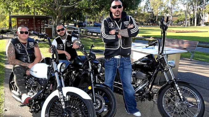 LEAP OF FAITH: Former bikies Luke Hainsworth, Kyryl Chefanov and Michael Barrett have founded the Kingsmen Christian Motorcycle Club.