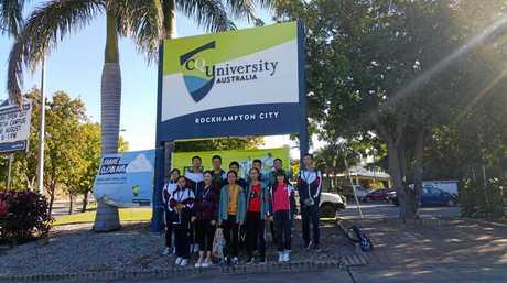 DELEGATION: Students in CQU.