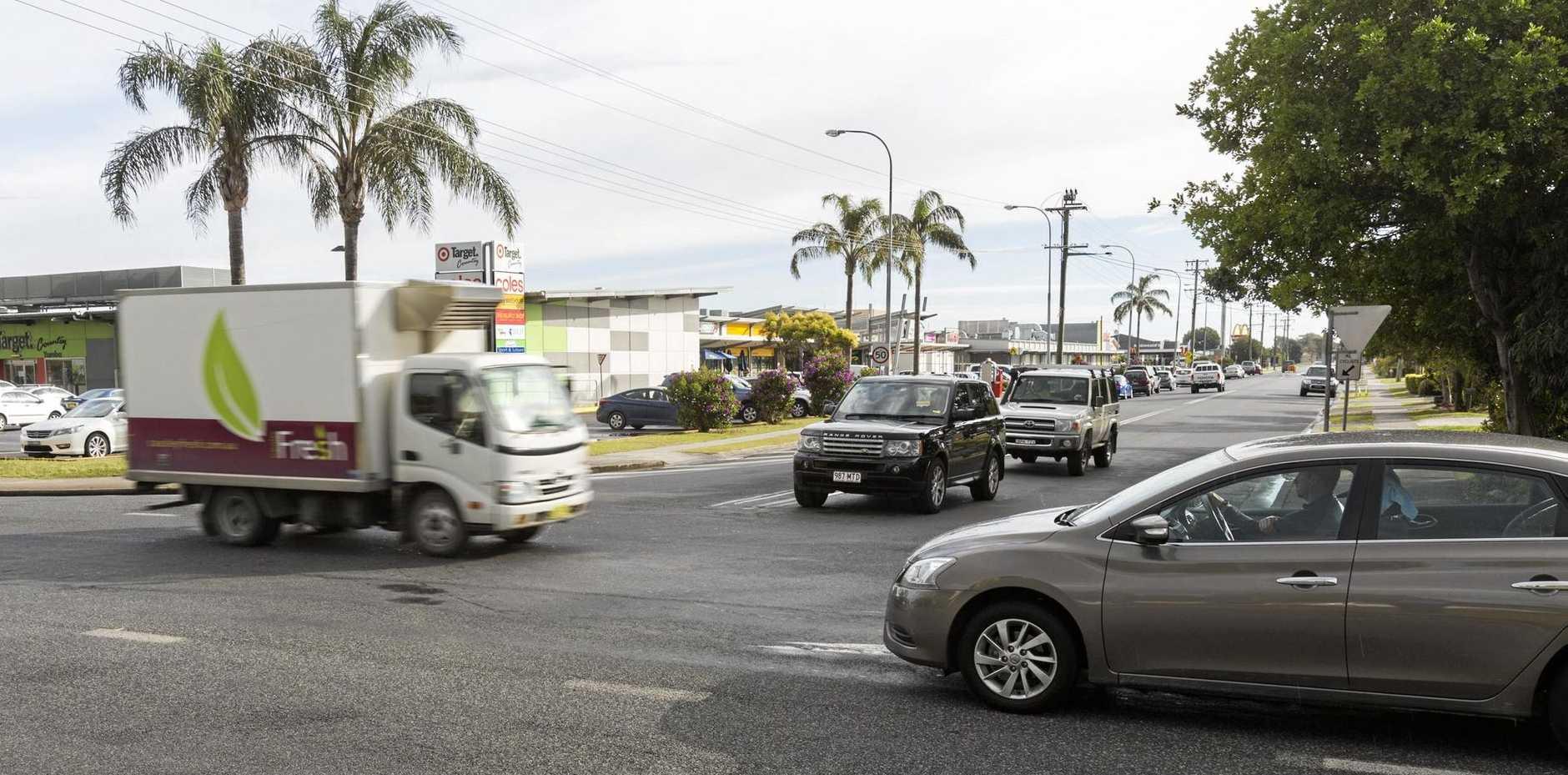 Corner of Yamba Road and Treelands Drive, Yamba. Photo Adam Hourigan / The Daily Examiner