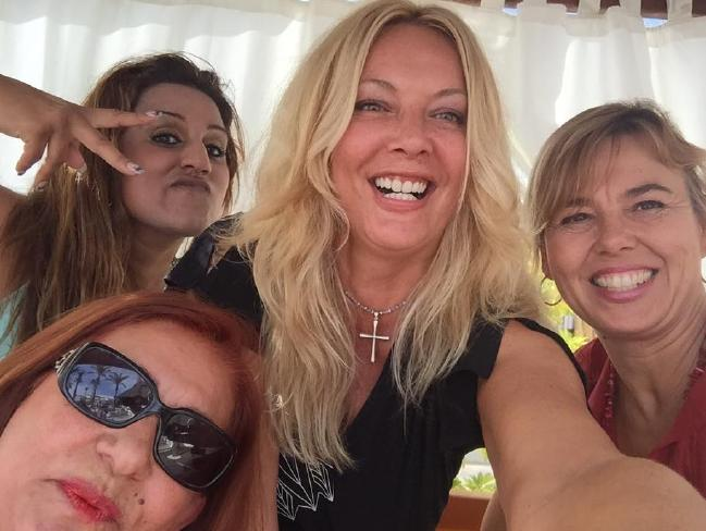 Kay Longstaff pictured with friends. Picture: Facebook