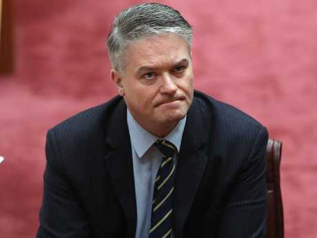 There are whispers surrounding the loyalty of Senator Mathias Cormann. Picture: Kym Smith