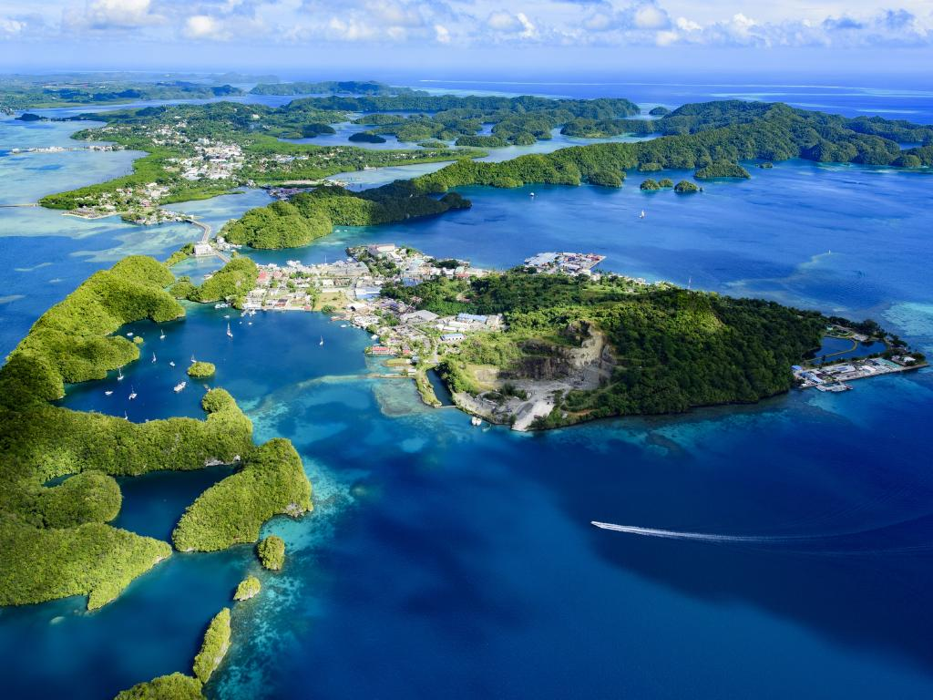 Palau, an archipelago of about 500 islands west of the Philippines, has stirred up China over its relations with Taiwan. Picture: iStock