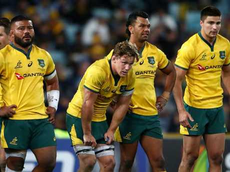 The Wallabies have slipped to fifth in the world rankings.