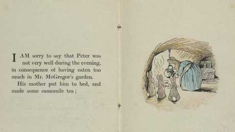 Now that we have a rabbit mask, we can claim Beatrix Potter's Peter Rabbit books are a favourite. (Pic: Victoria and Albert Museum, London)
