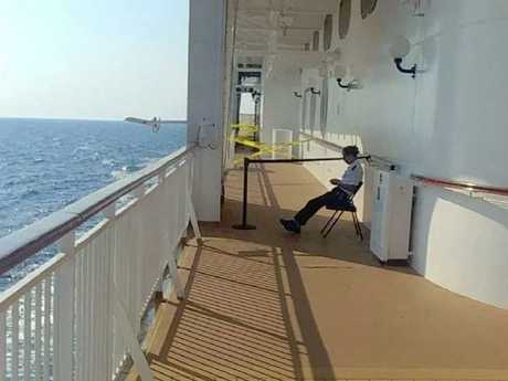 The area of the ship where a British tourist went overboard. Picture: Twitter