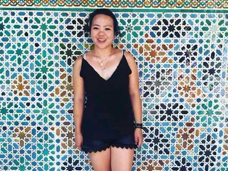 Agnes Wong was attacked in Spain while travelling alone. Picture: Givealittle