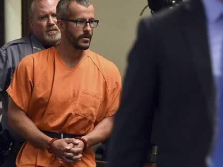 Christopher Watts is escorted into the courtroom before his bond hearing at the Weld County Courthouse on August 16, 2018, in Greeley, Colorado. Picture: AP