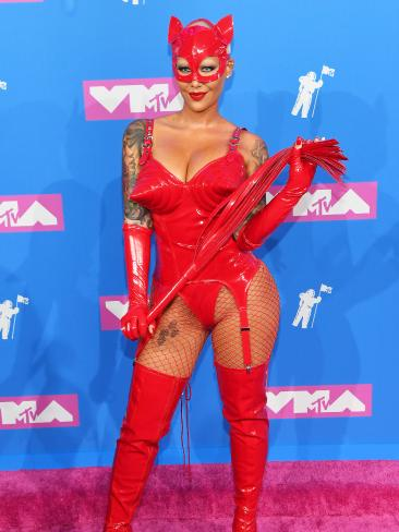 Red hot Amber Rose. Picture: Getty