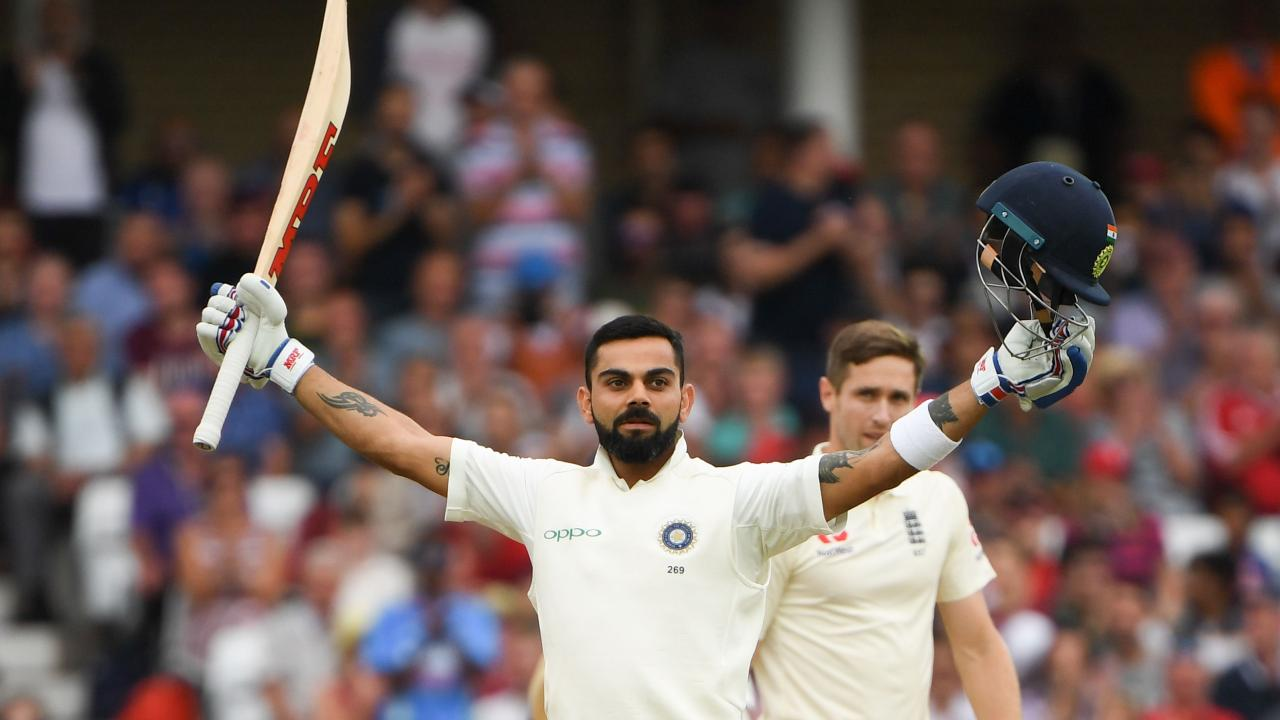 England's bowlers simply had no answer to Virat Kohli. Picture: AFP.
