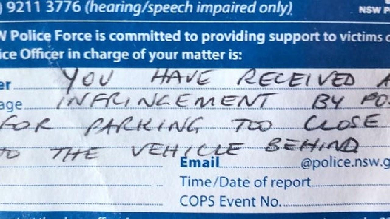 Strange mistake on parking infringement raises suspicions