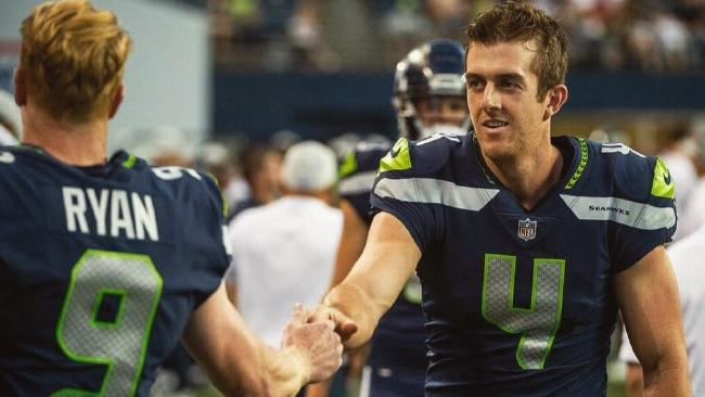 Jon Ryan makes way for Michael Dickson at Seattle.