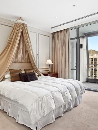 The Penthouse bedroom at Melbourne CBD hotel The Westin.
