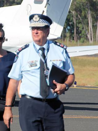 Queensland Police Commissioner Ian Stewart was also there. Picture: AAP/Matthew Nicholls