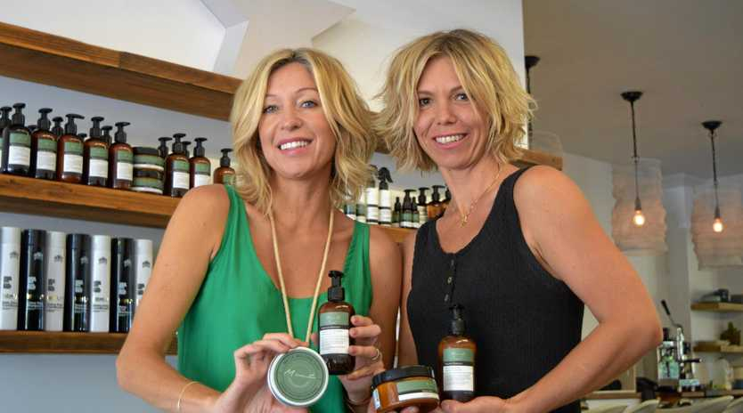 ORGANIC: Shannon Lloyd and Marie Lourens, co-owners of Mint Hair and creators of locally produced hair product range, Mint.