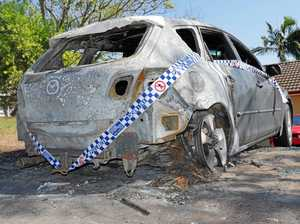 'Why would you do it?': Car 'disintegrated' in huge blaze