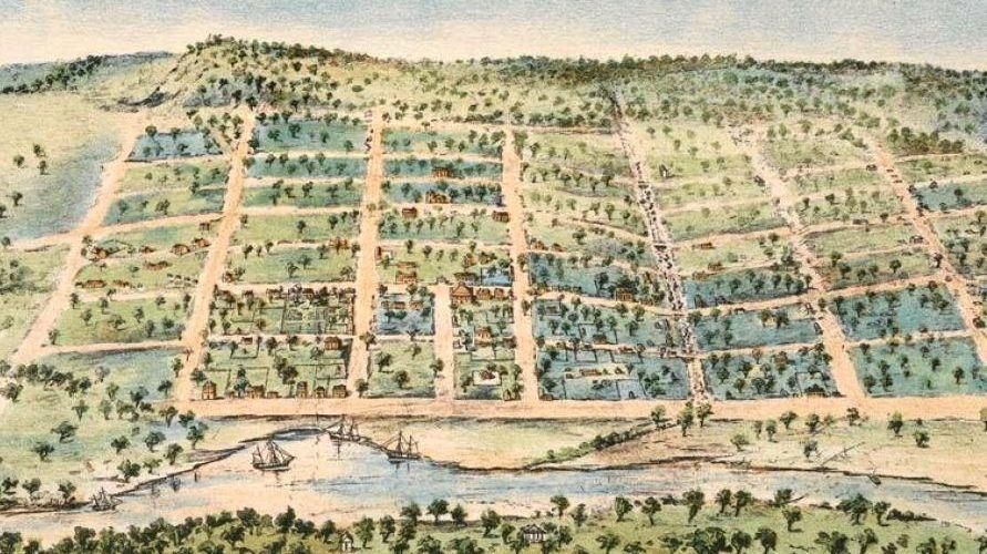 Melbourne in 1838