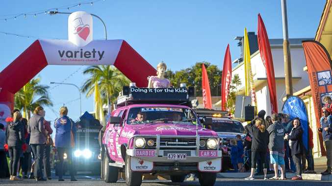The Barbie Themed car #50 at the start of the 2018 Variety Bash.