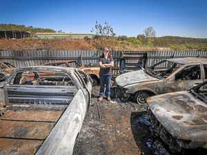Gladstone car wrecker rebuilding after blaze