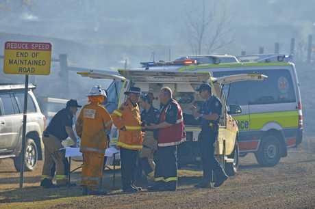 Bushfire at Lower Mount Walke.