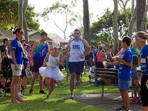 Corporate triathlon entrants ready to swim, ride and run