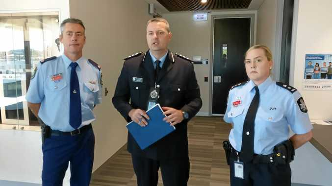 Tweed Detective Chief Inspector Brendon Cullen, Qld Police Acting Inspector Michael Corby and Australian Federal Police Superintendent Sascha Rayner.