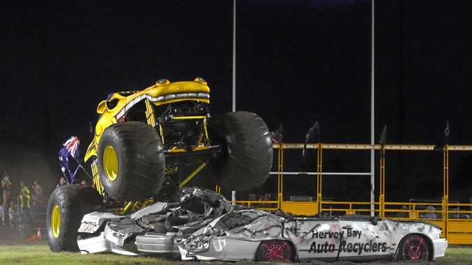Monster trucks headline carnage at M'boro Speedway