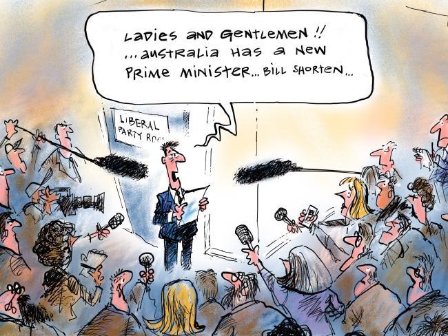 Detail from Sean Leahy's cartoon on the leadership spill.
