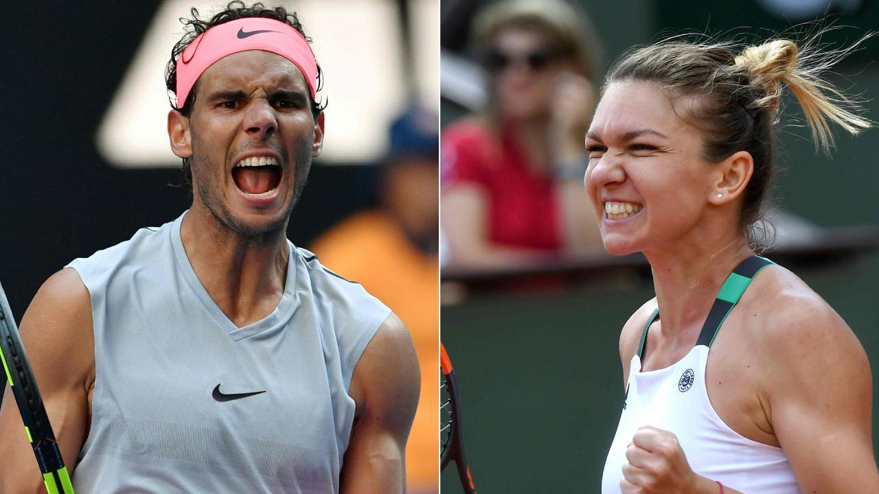 Rafael Nadal and Simona Halep are No. 1 seeds.