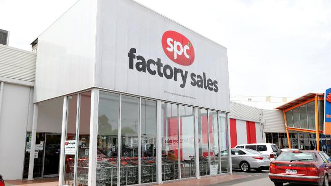 The SPC factory sales outlet in Shepparton. Picture: Mark Stewart