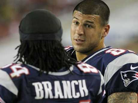 Former NFL star Aaron Hernandez.  Picture:  Supplied