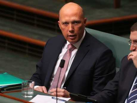 Peter Dutton on the backbench. Picture: Kym Smith