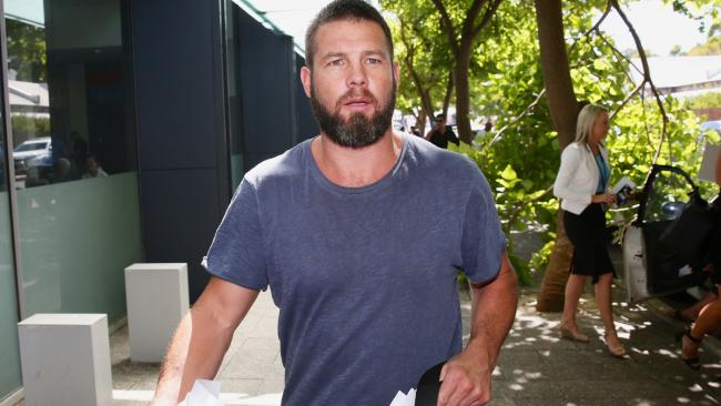 Former West Coast Eagles player Ben Cousins has been denied bail after appearing in court. (Photo: Richard Wainwright/AAP)