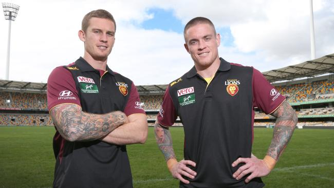 Dayne and Claye Beams will appear on Fox Footy's On The Mark. Picture: Jono Searle