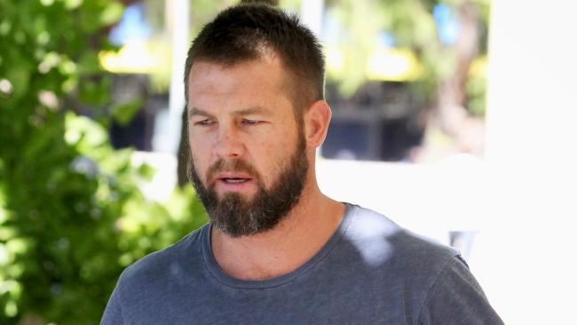 Ben Cousins outside Fremantle Magistrates Court last year. Picture: AAP
