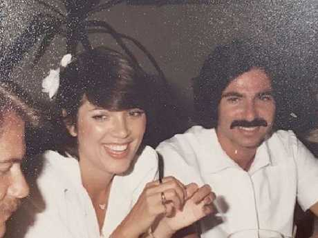 Kris Jenner with Robert Kardashian in the early 1980s. Picture: Instagram