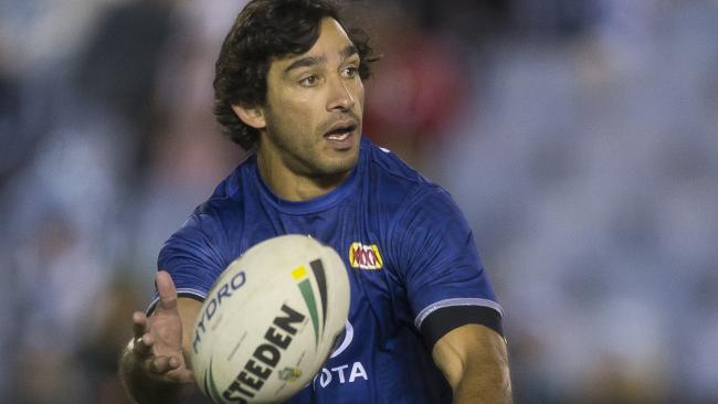 Johnathan Thurston will play his last game in Townsville on Friday night. Photo: AAP