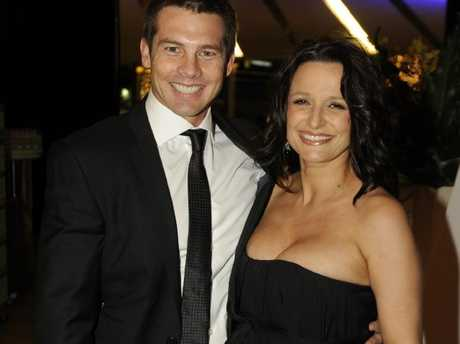 Ben Cousins and former partner Maylea Tinecheff at a West Coast Eagles function in 2011.