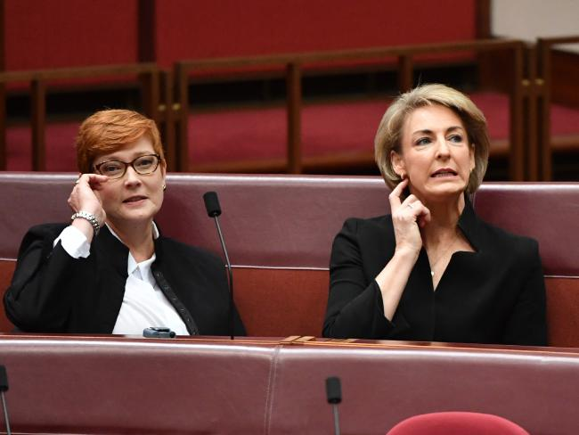 Where were ministers such as Marise Payne and Michaelia Cash? Picture: AAP